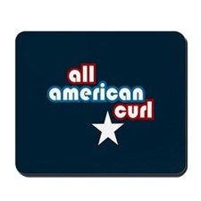 All American Curl Mousepad