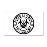 Zombie Outbreak Tactical unit Car Magnet 20 x 12