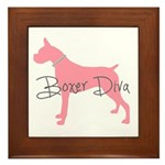 Diamonds Boxer Diva Framed Tile