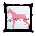 Diamonds Boxer Diva Throw Pillow