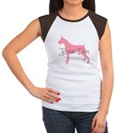 Diamonds Boxer Diva Women's Cap Sleeve T-Shirt