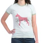 Diamonds Boxer Diva Jr. Ringer T-Shirt