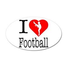 I Love Football 22x14 Oval Wall Peel