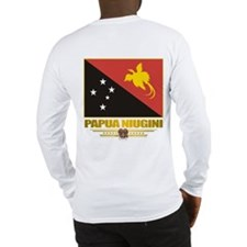 """Papua New Guinea Flag"" Long Sleeve T-Sh"