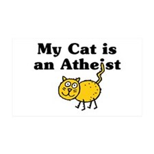 Cat is an Atheist 38.5 x 24.5 Wall Peel