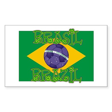 Brazil soccer Rectangle Sticker