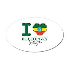I love Ethiopian boys 38.5 x 24.5 Oval Wall Peel