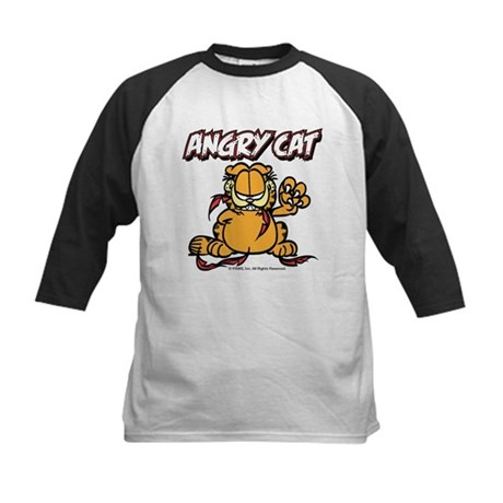 ANGRY CAT Kids Baseball Jersey