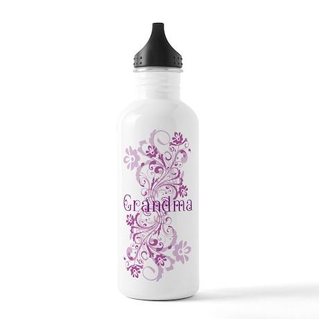 Grandma Gift Floral Swirl Stainless Water Bottle 1