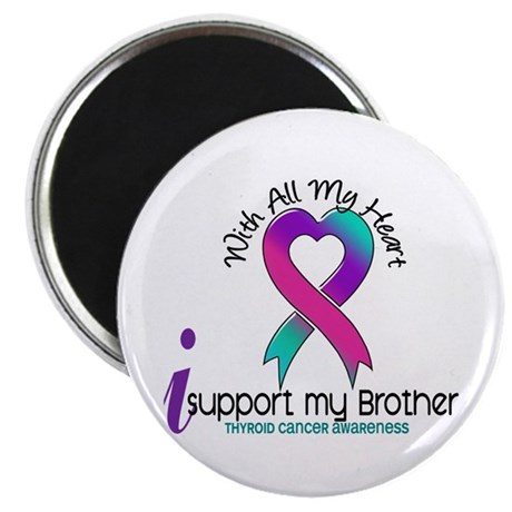 "With All My Heart Thyroid Cancer 2.25"" Magnet (10"