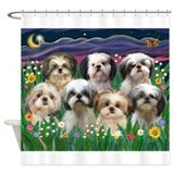 Shih tzu Shower Curtains
