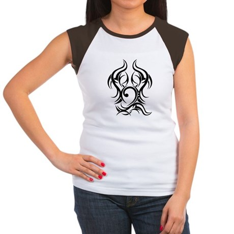 Bass Clef Tattoo tribal Women's Cap Sleeve T-Shirt