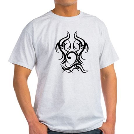 Bass Clef Tattoo tribal Light T-Shirt