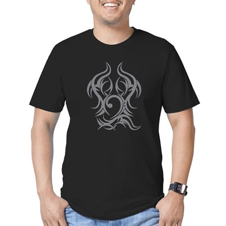 Bass Clef Tattoo tribal Men's Fitted T-Shirt (dark
