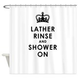 Lather Rinse Shower Curtain