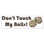 Don't Touch My Balls! Sticker (Bumper 50 pk)