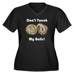 Don't Touch My Balls! Women's Plus Size V-Neck Dar