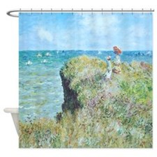 Claude Monet Cliff Walk Pourville Shower Curtain