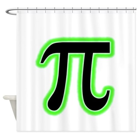 Green Glowing Pi Shower Curtain by bluesyworld