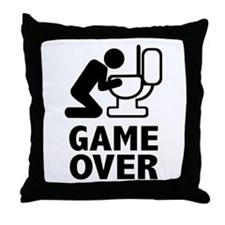 Alcohol puke toilet Throw Pillow