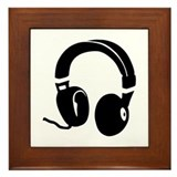 Headphones Framed Tile