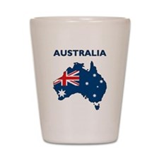 Map Of Australia Shot Glass