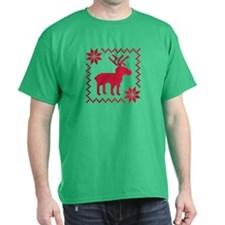 Norwegian reindeer pattern T-Shirt