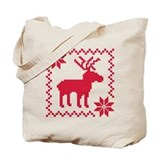 Norwegian reindeer pattern Tote Bag