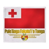 """Tonga Flag"" Throw Blanket"