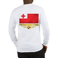 """Tonga Flag"" Long Sleeve T-Shirt"
