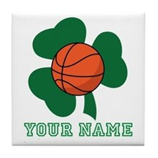 Personalized Irish Basketball Gift Tile Coaster