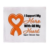 Leukemia Support Throw Blanket