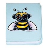 Cute Pug Bee baby blanket