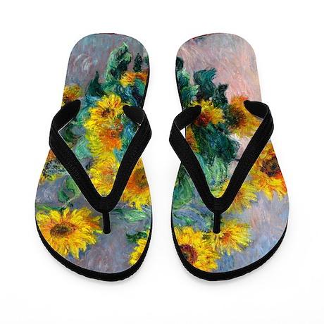 Monet - Sunflowers Flip Flops