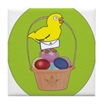 Easter Chick Tile Coaster