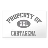Property of Cartagena Rectangle Decal