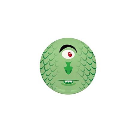 Sea Monster closeup Mini Button