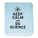 Keep Calm and Do Science baby blanket