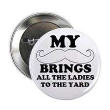 "My mustache 2.25"" Button"