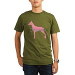 Diamonds Doberman Diva Organic Men's T-Shirt (dark