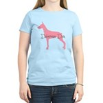 Diamonds Doberman Diva Women's Light T-Shirt
