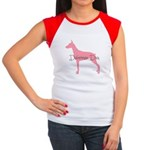 Diamonds Doberman Diva Women's Cap Sleeve T-Shirt