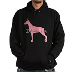 Diamonds Doberman Diva Hoodie (dark)