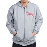 Diamonds Doberman Diva Zip Hoodie