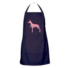 Diamonds Doberman Diva Apron (dark)