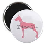 Diamonds Doberman Diva Magnet