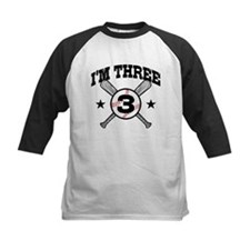 Cute 3 Year Old Baseball Tee