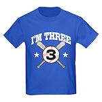 Cute 3 Year Old Baseball Kids Dark T-Shirt