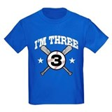 Cute 3 Year Old Baseball T