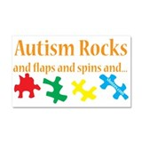 Autism Rocks... Car Magnet 20 x 12
